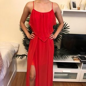 BCBG maxi red dress